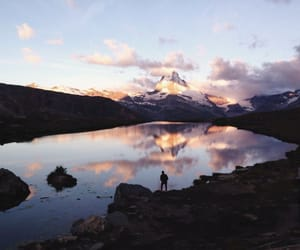 evening, mountain, and nature image