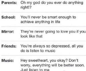 music, sad, and school image