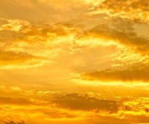 yellow, sky, and aesthetic image