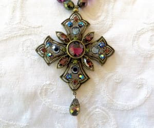 etsy, cross necklace, and vintagevoguetreasure image
