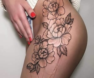 roses, 😘, and tattoo image