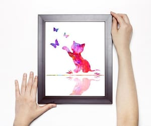 cat, baby shower gift, and baby room decor image