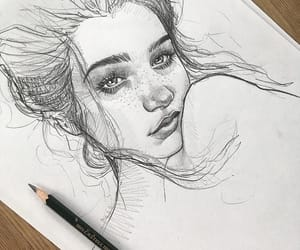 aesthetic, drawing, and sketch image