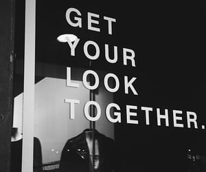 quotes, look, and black and white image