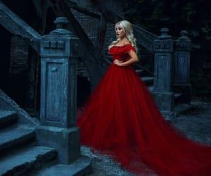 dress, girl, and vampire image