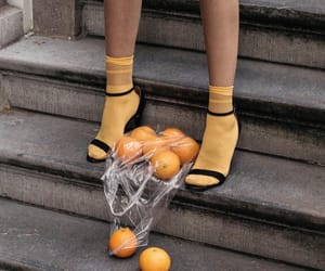 aesthetic, orange, and shoes image