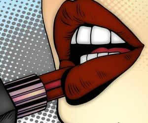 lipstick, lips, and art image