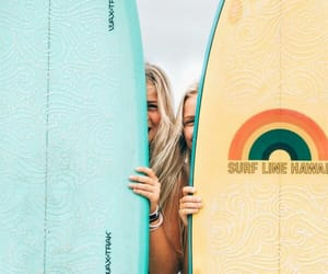 summer, girls, and surf image