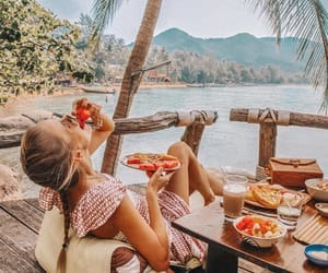 summer, girl, and travel image