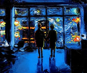 art, van gogh, and blue image