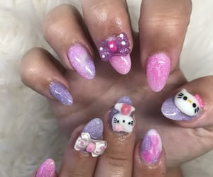 nails, coffinnails, and nailart image