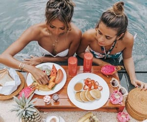 friends, food, and fruit image