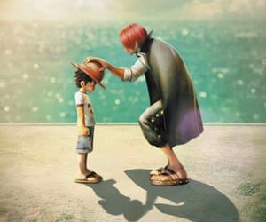one piece, shanks, and strawhat image