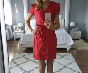 fashion, outfit, and red dress image