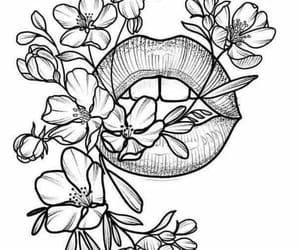 draw, drawing, and floral image
