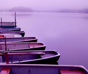 purple, aesthetic, and boat image