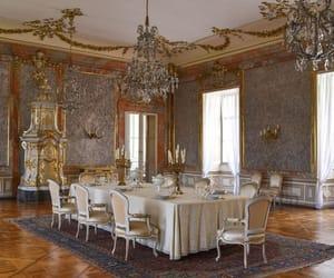 chandelier, dinning room, and elegant image