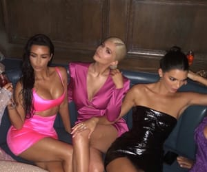 kylie jenner, kim kardashian, and party image