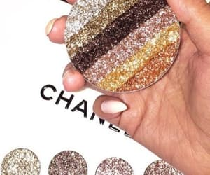 makeup, chanel, and glitter image