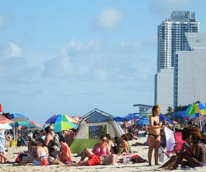 clouds, crowded, and Miami image
