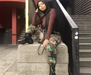 army, fashion, and striped image