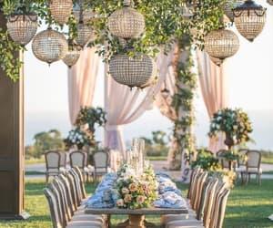wedding, couple, and decoration image