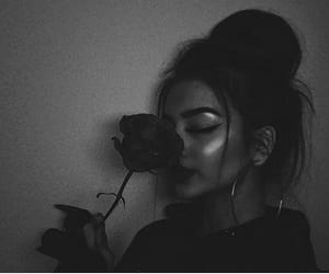 beauty, black, and flower image