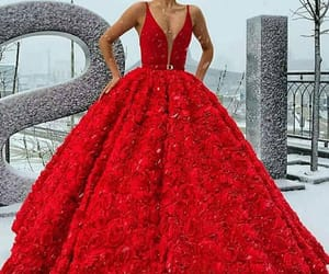 dress, red, and robe image