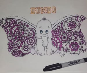 art, drawing, and dumbo image