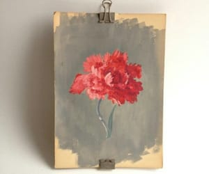 art, flower, and paint image