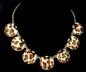 etsy, leopard necklace, and 1940s necklace image