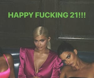 kendall jenner, kylie jenner, and birthday image