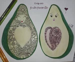 green, zentangle art, and avocado image