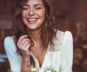 beautiful, bride, and flowers image