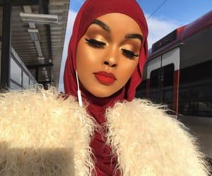 Edna, hijab, and makeup image