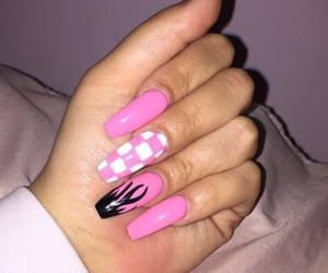 long nails, acrylic nails, and nails image