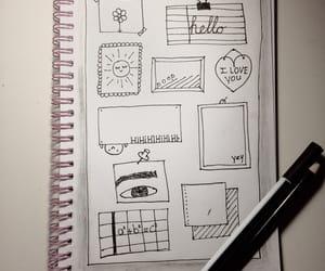 agenda, black, and drawing image