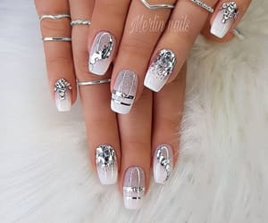 nail art, nails, and diamond nails image