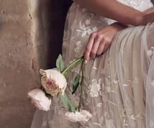 flowers, girl, and wedding image
