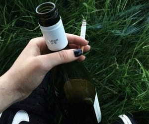 cigarette, alcohol, and green image