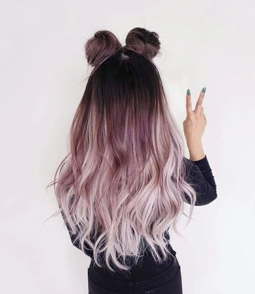 hairstyle, hair, and space buns image