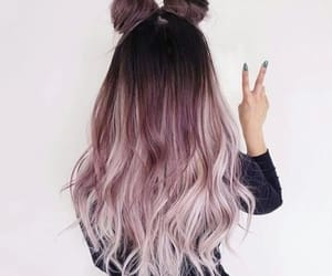 hair, hairstyle, and space buns image