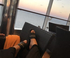 Givenchy, slides, and toes image