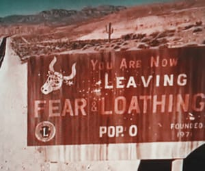 billboard, desert, and Fear and Loathing in Las Vegas image