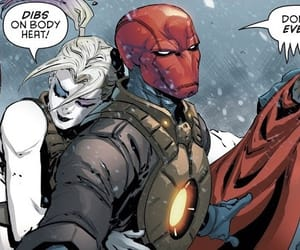 harley quinn, red hood, and red hood and the outlaws image