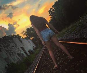 abandoned, beauty, and railroad image