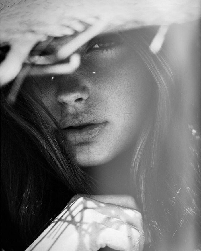aesthetic, black & white, and face image