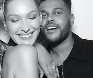 the weeknd, bella hadid, and abel image