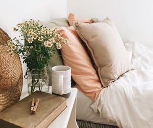 flowers, home, and bed image