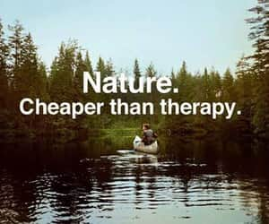 nature, therapy, and quotes image